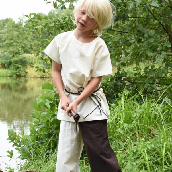 Barn tunika Ivar, kortärmad, naturlig