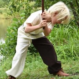 Dzieci tunika Ivar, krótki rękaw, naturalne