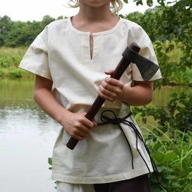 Kindertuniek Ivar, korte mouwen, naturel