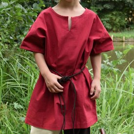 Kids tunic Ivar, short-sleeved, red