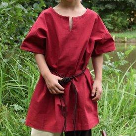 Túnica infantil Ivar, manga corta, rojo.