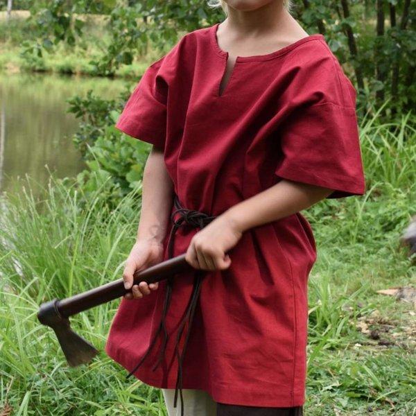 Børn tunika Ivar, kortærmet, rød