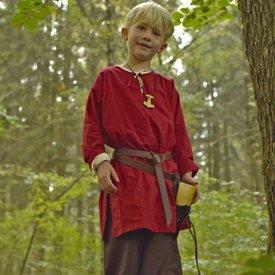 Dzieci tunika Athelstan, czerwony