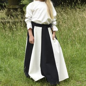 Girl skirt Loreena, black-naturel