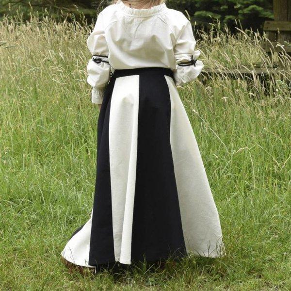 Pige nederdel Loreena, sort-naturel