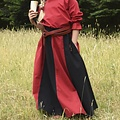 Meisjesrok Loreena, zwart-rood