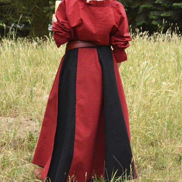 Jupe fille Loreena, noir-rouge