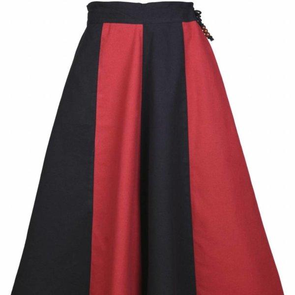 Pige nederdel Loreena, sort-rød