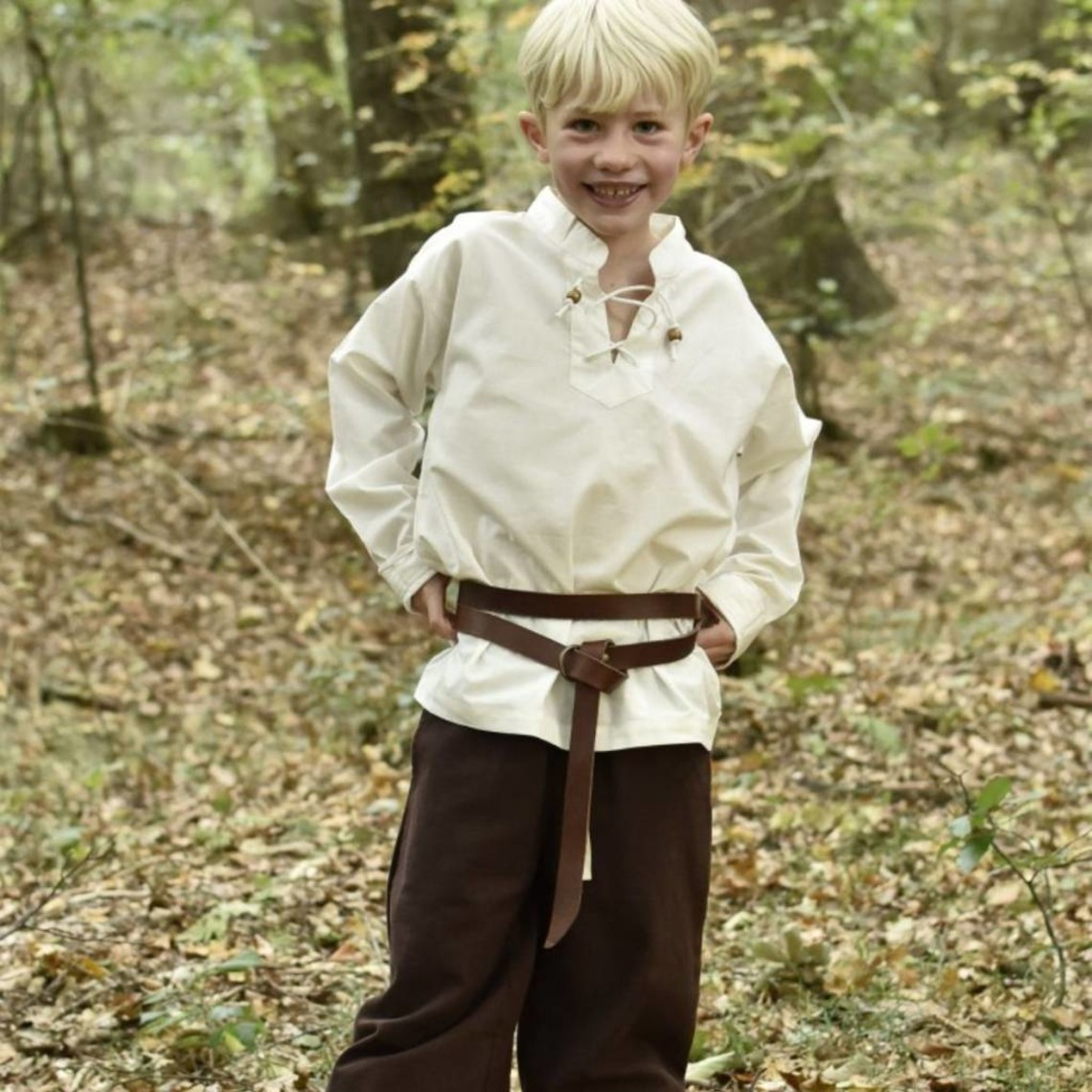Camisa de niños pirata, natural.