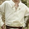 Kinderhemd piraat, naturel