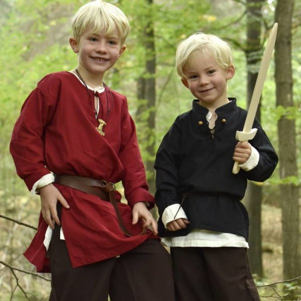 Camicia per bambini pirata, nera