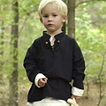 Chemise enfant pirate noire