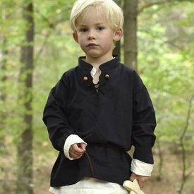 Camisa infantil pirata, preta