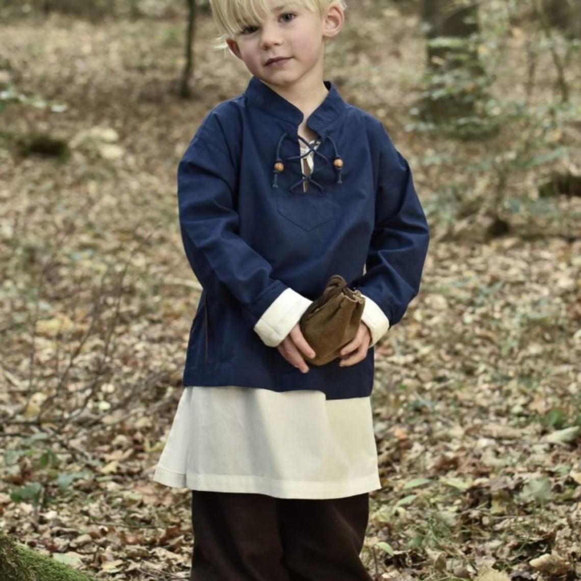 Børn shirt pirat, blå