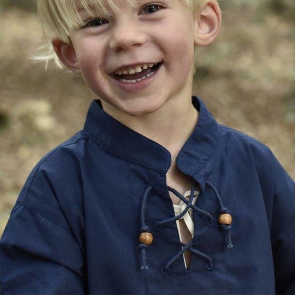Chemise enfant pirate bleue