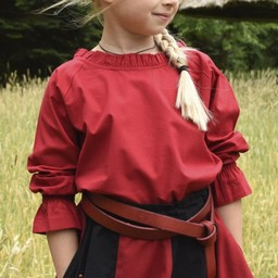 Girls blouse Elizabeth, red