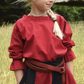 Blouse fille Elizabeth rouge