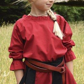 Mädchenbluse Elizabeth, rot