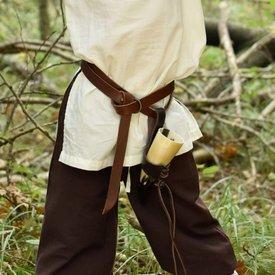 Spodnie dziecięce Asmund, brązowe