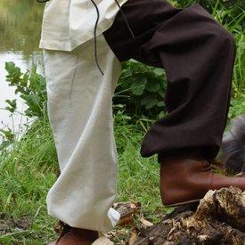 Spodnie dziecięce Asmund, brązowo-naturalne