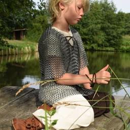 Kids trousers Asmund, brown-natural
