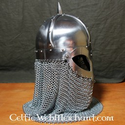 Viking hjälm med chainmail