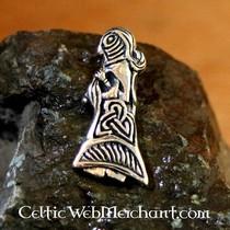 Viking woman amulet bronze