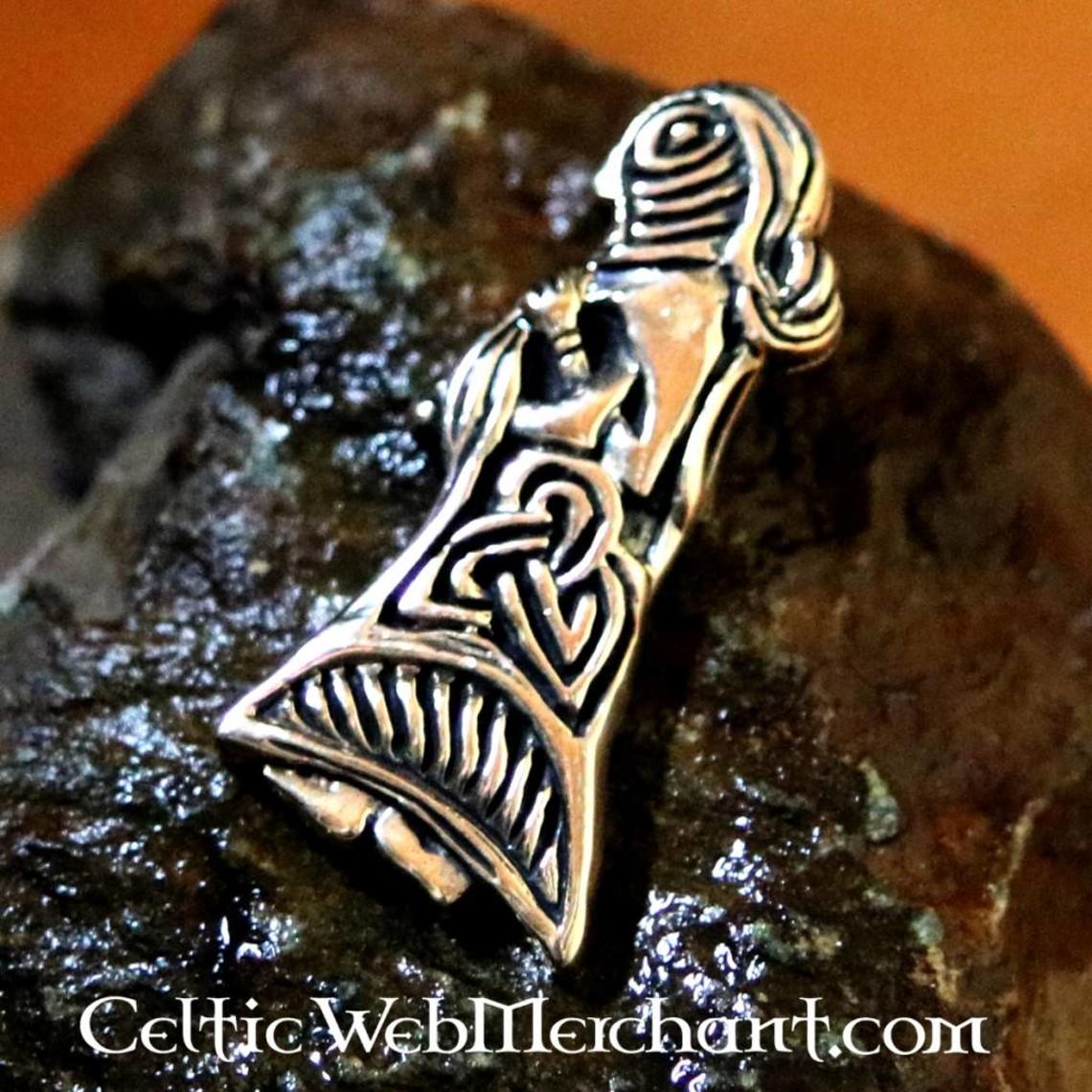 Mujer vikinga amuleto bronce