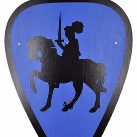 Escudo de juguete caballero, azul