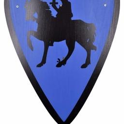 Speelgoedschild ridder, blauw