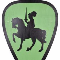 Cavaleiro de escudo de brinquedo, verde
