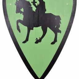 Toy shield knight, green
