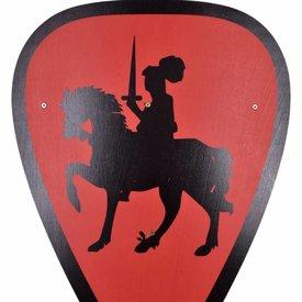 Escudo de juguete caballero, rojo