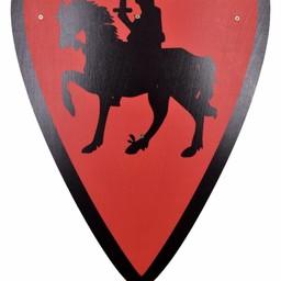 Speelgoedschild ridder, rood