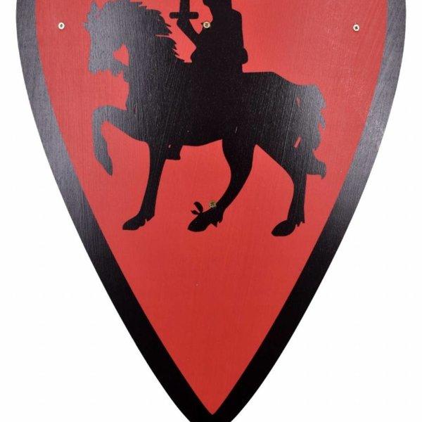 Cavaliere scudo giocattolo, rosso