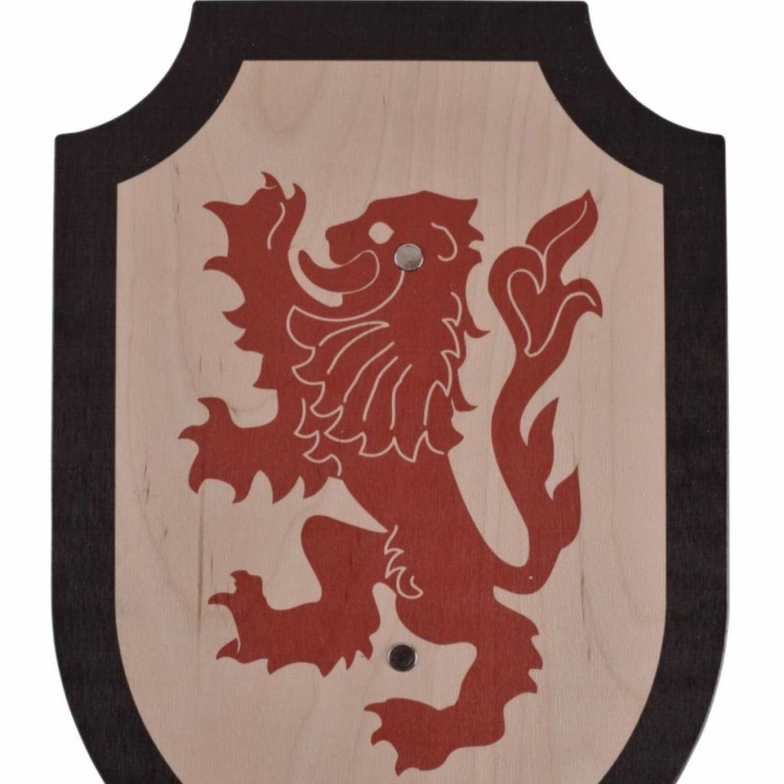 Toy Schild Lionheart, schwarz-rot
