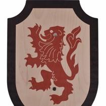 Speelgoedschild Leeuwenhart, zwart-rood