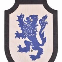 Speelgoedschild Leeuwenhart, zwart-blauw