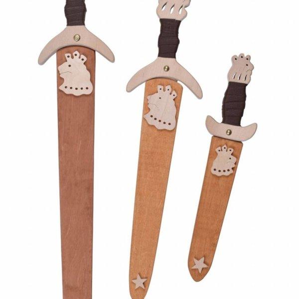 Toy svärd med trä skida
