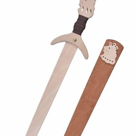 Toy sword with wooden scabbard