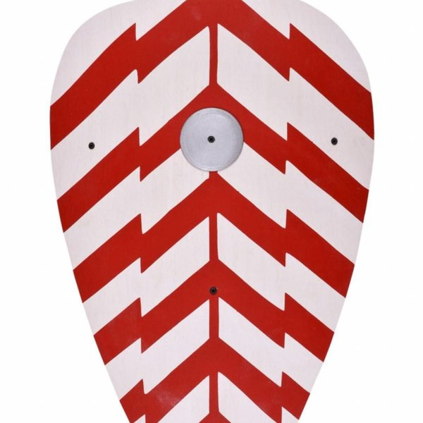 Toy knight shield red