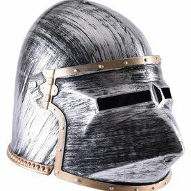 Legetøj hjelm klappvisor bascinet