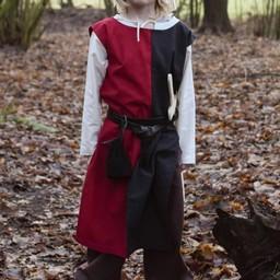 Kinder surcoat Rodrick, schwarz-rot