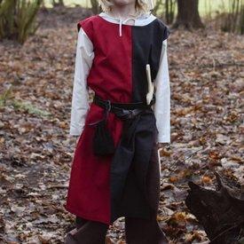 Barn surcoat Rodrick, svart-röd