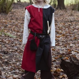 Childrens surcoat Rodrick, black-red