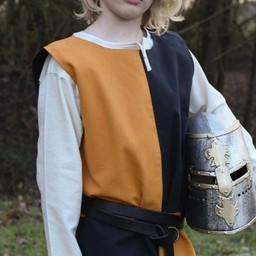 Kinder surcoat Rodrick, schwarz-orange