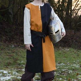 Dziecięcy płaszcz Rodrick, czarno-pomarańczowy