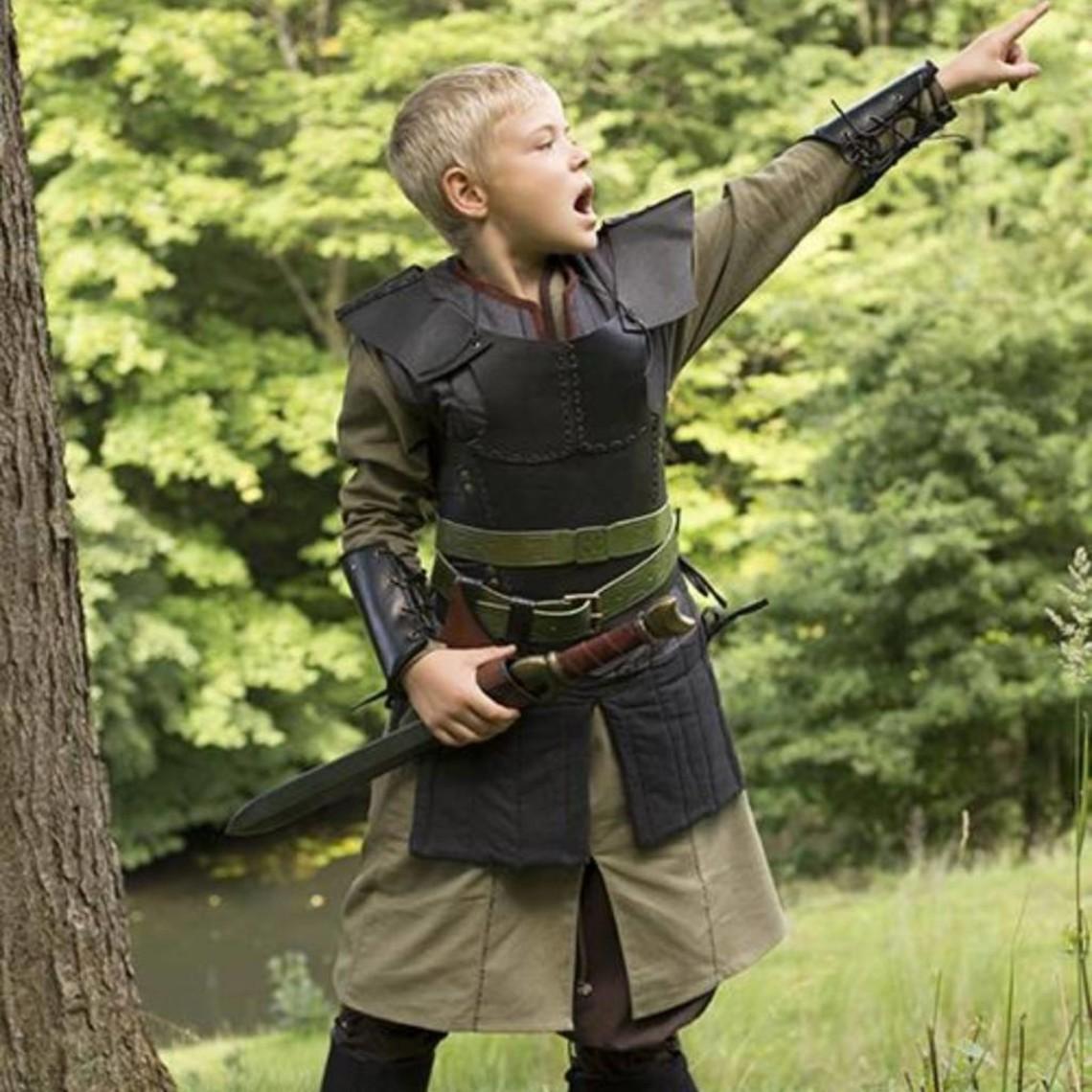 Epic Armoury RFB leather vambraces, black, pair