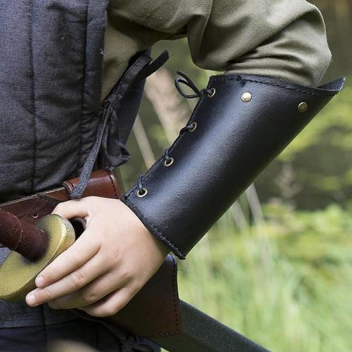 Epic Armoury RFB läder rustningsarmar, svart, par