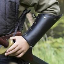 Epic Armoury RFB leren onderarmbeschermers, zwart, paar